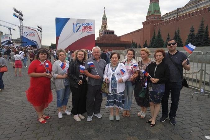 В День России на Красной площади в Москве