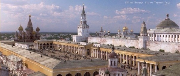 Так выглядели Кремль и Красная площадь в 1800 году